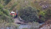 Emergency services at the scene in the Portroe quarry where two brothers died while diving today