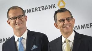 Martin Zielke, the former CEO of Commerzbank and Stefan Schmittmann, the bank's former Chairman