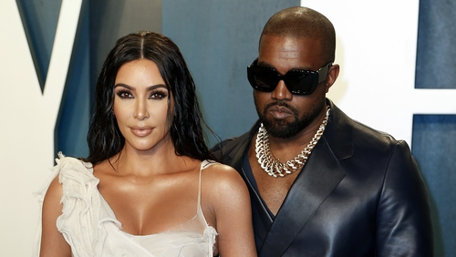 Kim Kardashian and Kanye West pictured together in March