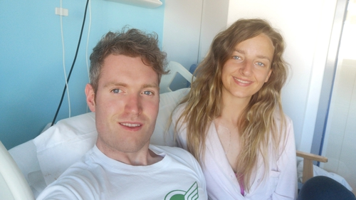 Tubber couple Bríona Reynolds and Shane Hunter the night before the surgery
