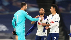 Hugo Lloris and Heung-Min Son were involved in a half-time spat