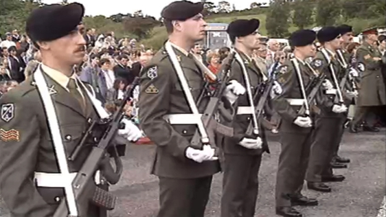Soldiers with the Irish Army.