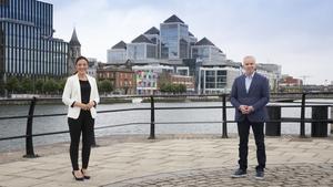 Presenters Richard Curran and Ella McSweeney