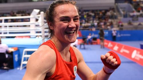 Kellie Harrington eased through to the last 16