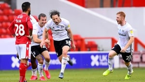 Harry Arter after scoring the only goal at the City Ground