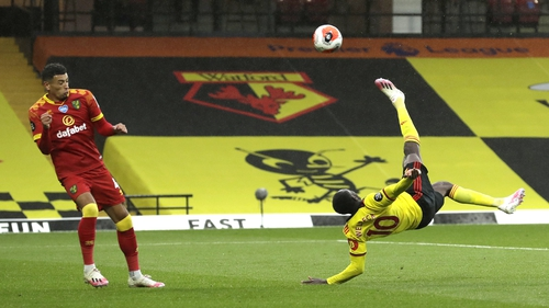 Danny Welbeck's bicycle kick gave Watford a crucial win and banged a further nail in Norwich's coffin