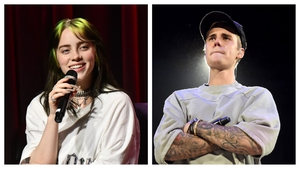 Billie Eilish and Justin Bieber