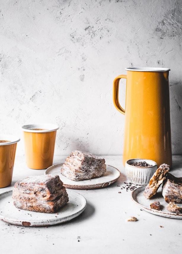 Brioche morning buns from One Tin Bakes by Edd Kimber (Edd Kimber/PA)