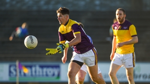 Conor Swaine plays in goal for the Wexford footballers