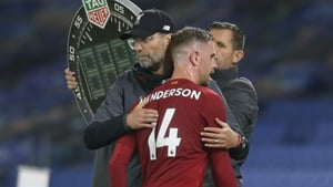 Jordan Henderson limped off 10 minutes from time