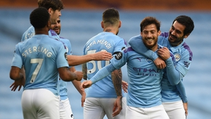 David Silva scored City's fourth goal on the night