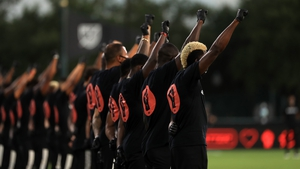 MLS players protest pre-game in Florida