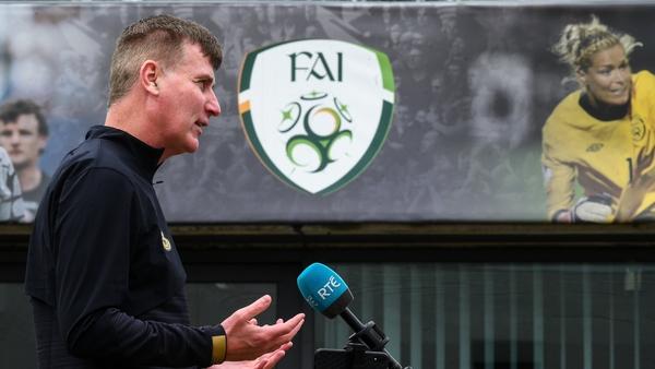 Stephen Kenny addressed the media on Wednesday