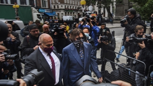 Johnny Depp arriving at the High Court in London for a hearing in his libel case against The Sun