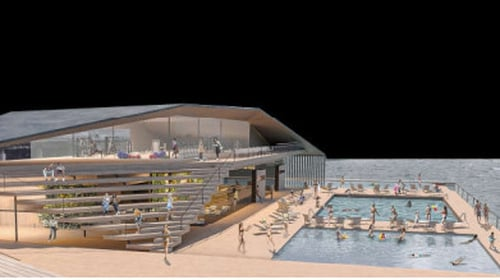 Artist's impression of the proposed sea pool