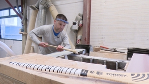Sean Torpey (above) and his brother John have been involved in making hurleys for nearly 40 years