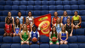 Team representatives from the Women's Super League pictured at last season's Basketball Ireland launch
