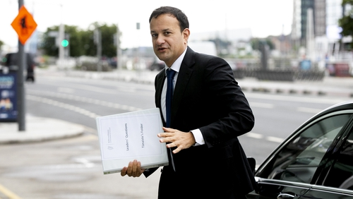 Tánaiste Leo Varadkar arrives for the sitting of the Dáil at the Convention Centre (Pic: Rolling News.ie)