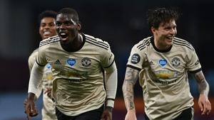Paul Pogba celebrates the third goal