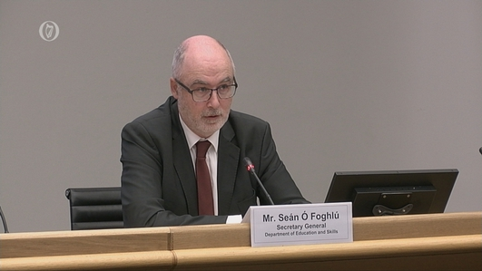 The Dáil's Covid Committee hears from the Department of Education and Skills