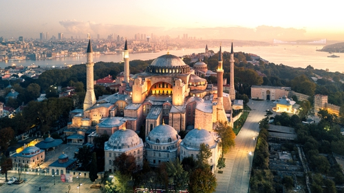 Hagia Sophia was once a Byzantine church and then a mosque, before becoming a museum in the last century