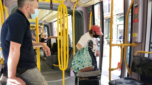 The number of people allowed on public transport increases from Monday