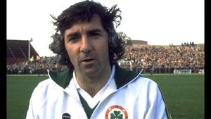 Paddy Mulligan on Ireland duty in 1977