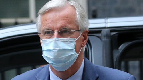 Michel Barnier said Britain's position has not evolved in recent months on some key sticking points