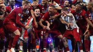 Jordan Henderson danced on the spot before lifting the Champions League trophy last year