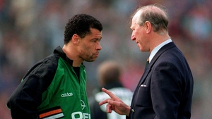 Two greats: Jack Charlton with Paul McGrath