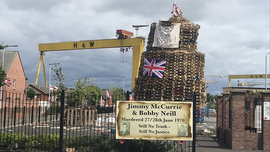 Foster condemns bonfires being lit despite warnings