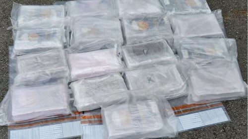 The Garda twitter account posted a picture of some of the drugs seized during today's operation