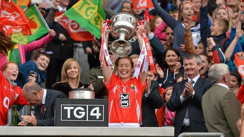 Rena Buckley won a total of 18 senior All-Ireland medals playing for Cork