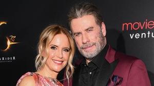 Kelly Preston and John Travolta attend the New York premiere of Gotti in June, 2018