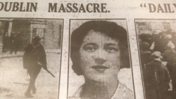 Newspaper showing Jane Boyle, one of the people killed on Bloody Sunday