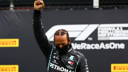 Hamilton at last year's British Grand Prix