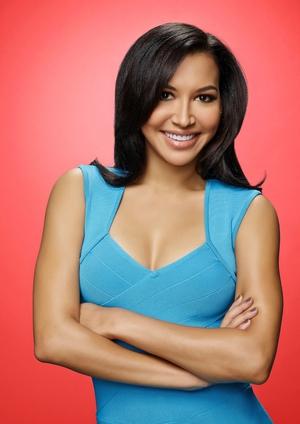 Naya Rivera as Santana on the sixth and final season of GLEE.