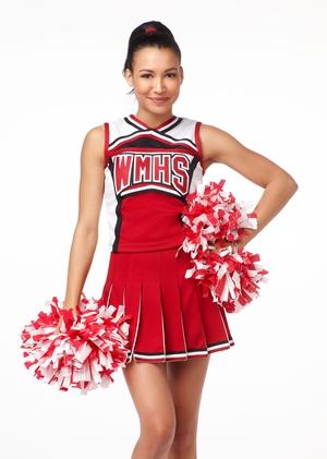 Naya Rivera as cheerleader Santana.