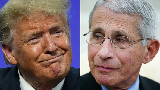 Trump fuels, then downplays, tensions with Fauci