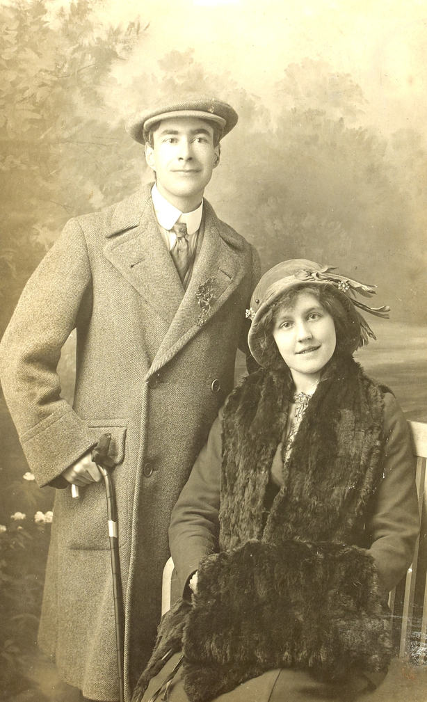 Elizabeth Mernin and Piaras Beaslai. Image courtesy of the National Library of Ireland