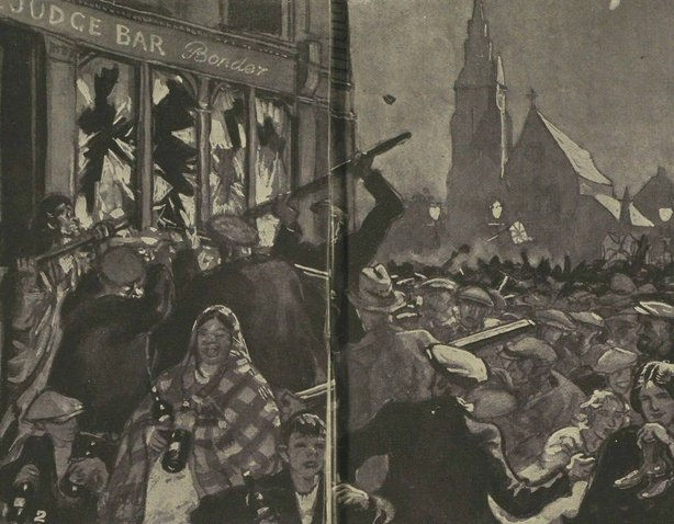 An illustration of the riots in Belfast this week Photo: Illustrated London News [London, England], 31 July 1920
