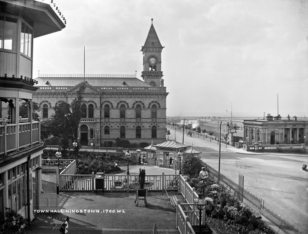 The town hall in Kingstown, now Dún Laoghaire, in 1905 Photo: National Library of Ireland, L_ROY_01700