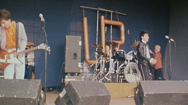 U2 on stage at Leixlip Castle