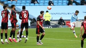 David Silva scores with a fine free-kick