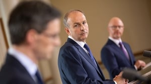Micheál Martin said that it is now recommended that social visits to people's homes will be limited to a maximum of ten visitors (Pic: Rolling News)
