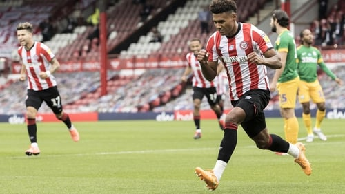 Ollie Watkins scored as Brentford's push for promotion gained further ground