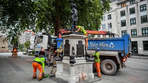 The sculpture was removed by Bristol City Council early this morning