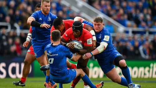 Maro Itoje goes on the charge in last season's final but will the Saracens lock face Leinster?