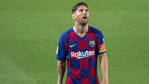 Messi during the loss to Osasuna