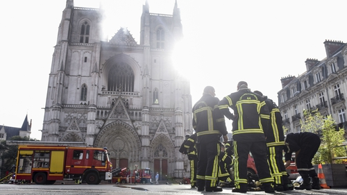Nantes Cathedral fire: Arson investigation after blaze at 15th-century French church